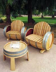 Cool patio furniture ideas Seating Turn Wine Barrels Into Table Chair Patio Setthese Are The Kitchen Fun With My Sons 20 Of The Best Upcycled Furniture Ideas Kitchen Fun With My Sons