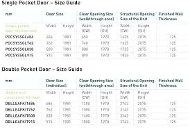 pocket door dimension standard measurements height in inches sliding dimensions width st