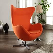 mlf arne jacobsen egg chair ottoman orange kitchenlounge ideasreion furniturecorner