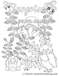Surprise You Re An Asshole Adult Coloring Page Screw You As