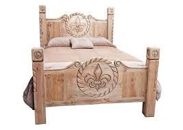 In Home Furniture Queen Rope Fleur-De-Lis Poster Bed