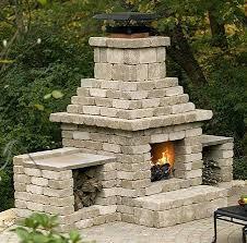 cinder block outdoor fireplace how