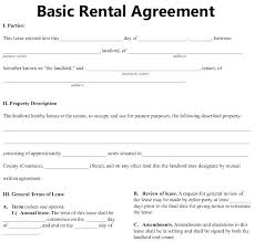 Standard Commercial Lease Agreement Template Basic Rental Free ...