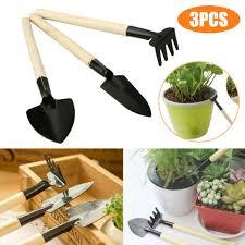 mini shovel rake plant tools set with