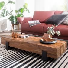 Finebuy Couchtisch Saron Wohnzimmertisch Holz Massiv Sofatisch Tisch