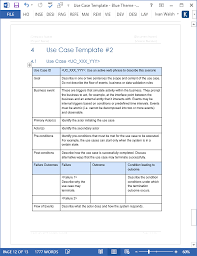 Use Case Templates Word Partypix Me