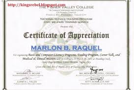 Sample Certificate Of Appreciation Magnificent Examples Of Executive Resumes Sample Of Certificate Of Appreciation