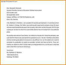 Letter Of Appeal Sample Template Enchanting 48 Appeal Letter Format For Financial Aid Bursary Cover Letter