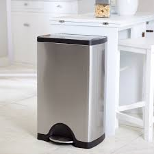 stainless steel kitchen trash can. Kitchen Trash Cans Within The Best Can Cool Home Design Ideas Plan 13 Stainless Steel I