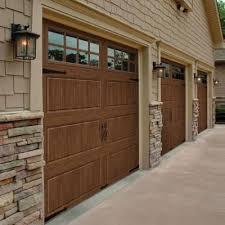 9 foot garage door8 Ft Garage Door And Chamberlain Garage Door Opener On Wood Garage