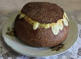 Black Or Dark Rye Bread Russian Symbol