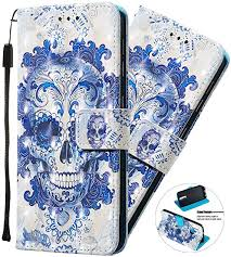 Shockproof Premium <b>PU Leather</b> Flip Notebook <b>Wallet Case</b> Lace ...