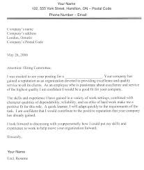 Cover Letter Applying For A Job Sample Sample Cover Letters For