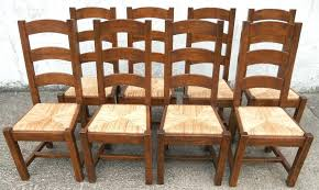 rush seat chairs sold set of eight heavy oak rush seat country style dining chairs rush