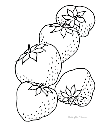 Coloring Pictures Of Strawberries Strawberry Coloring Strawberry