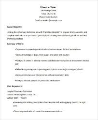 Pharmacy Tech Resume Template Pharmacy Technician Resume Example 9 Free  Word Pdf Documents Printable