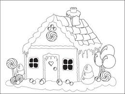 gingerbread house clipart black and white.  White Colouring Page Of A Gingerbread House For Gingerbread House Clipart Black And White H