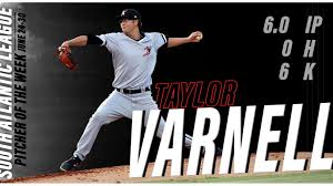 Kannapolis Intimidators Seating Chart Varnell Named Sal Pitcher Of The Week Kannapolis