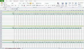Employee Vacation Tracking Excel New Employee Attendance