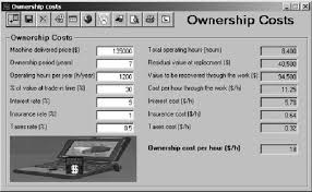 Typical Example Of The Dozer Ownership Costs Calculation