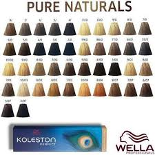 Wella Koleston Perfect Permanent Pure Naturals Tint Dye Hair Color Ebay