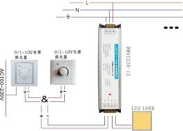 free shipping 0 1 10v & 0 10v & triac & dali dimming driver 1 0-10v dimming troubleshooting at 1 10v Dimming Wiring Diagram
