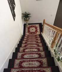 set of two 26x75cm arcylic rug mat for stair runner wood step stair stand door mat custom size