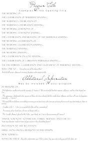 Wedding Ceremony Itinerary Template