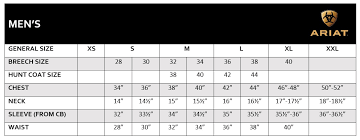 Ariat Sizing Information