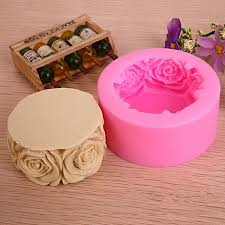 3d fondant rose flowers silicone soap mould diy crafts candle molds 7 5x3 3cm