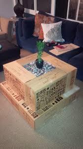 wood crate coffee table diy