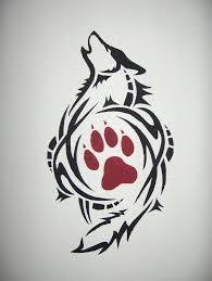Tribal Wolf Design Nej Tetování Vlka Tetování Og Kresby
