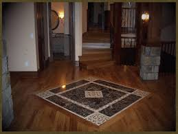 stained hickory with tile inlay sand stain finish classical wood floors me