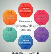 Infographics Templates 6 Option Parts Steps Business Concept
