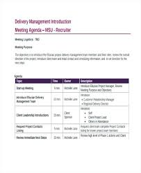 Project Management Meeting Agenda Template Example Templates ...