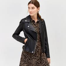 warehouse faux leather biker jacket black 1