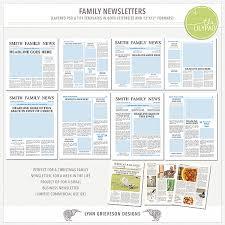 Christmas Family Newsletter Template Free Platte Sunga Zette
