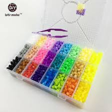 online get cheap perler fuse aliexpress com alibaba group hama beads 5500 perler beads 5mm 24colors box set educational kids diy toys fuse beads plussize
