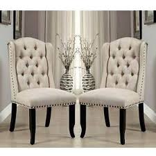 cheap tufted chair. Perfect Chair Image Is Loading SaniaElegant2pcsDiningSideChairsTufted And Cheap Tufted Chair