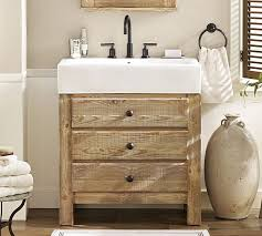 Rustic pine bathroom vanities Bath Pottery Barn Mason Reclaimed Wood Single Sink Vanity Wax Pine Finish Pottery Barn