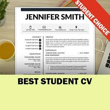 College Student Modern Resume Student Resume Template Internship Resume Cv Template Etsy