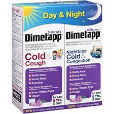 Childrens Dimetapp Cold Cough Childrens Dimetapp Nighttime Cold Congestion 4 Fl Oz Pack Of 2 Grape Flavor Decongestant Antihistamine