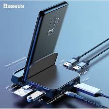 <b>Baseus</b> USB <b>Type C HUB Docking</b> Station Pad Station <b>USB</b>-<b>C</b> to ...