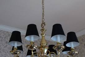 chandelier clip on light shades drum shaped home depot mini white black and lighting clearance lamp