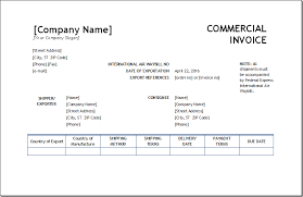 Printable Commercial Invoice Printable Commercial Invoices Excel Invoice Templates