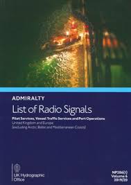 British Admiralty Charts List Admiralty List Of Radio Signals Np286 1 Volume 6 Part 1
