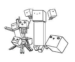 Small Picture Free Minecraft Sword Coloring Pages Page Drawing Inspired Diamond