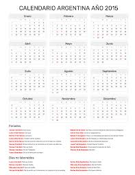 Calendarios Para Imprimir 2015 Calendario Argentina Año 2015 Feriados