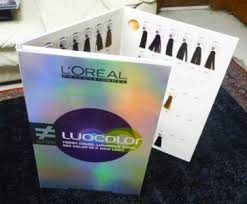 Professional Luocolor Hair Color Swatch Book Loreal Luo