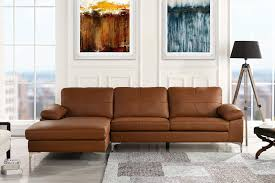 image is loading camel leather match family room sectional sofa l